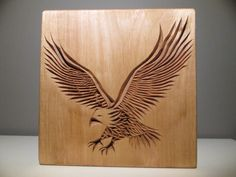 Eagle carved eagle chip carving wood carving wooden by halfron