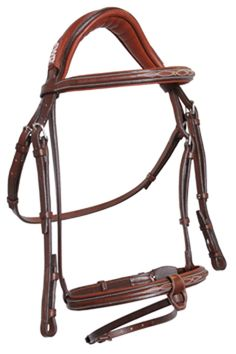 CWD Sellier, ANATOMIC FRENCH NOSEBAND BRIDLE WITH STITCHING horse