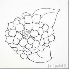 pattern stained glass hydrangae | hydrangea-pattern-C