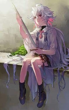 Merlin (Lily) Anime Guys, Manga Anime, Anime Art, Merlin, Character Art, Character Design, Fate Characters, Fate Servants, Fate Anime Series