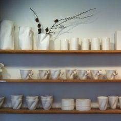 LOVE LOVE LOVE... All the vases and Cups by designer Inge Vincent. Especially the bag vases Inge Vincent / Jægersborggade, Copenhagen