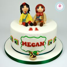 Rosie & Jim Cake 07917815712 www.fancycakesbylinda.co.uk www/facebook.com/fancycakeslinda