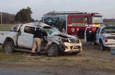 Una ambulancia chocó en el cruce de Winifreda: dos personas hospitalizadas
