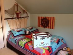 Carson's pirate room! Fully equipped with spinning ships wheel!!
