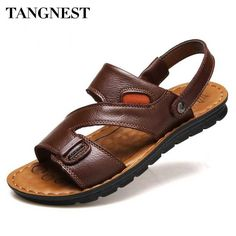 Fair price Tangnest 2017 Men Beach Sandals Men Solid Pu Leather Slippers Fashion Gladiator Platform Sandals Man Summer Casual Shoes XML132 just only $16.99 with free shipping worldwide  #menshoes Plese click on picture to see our special price for you