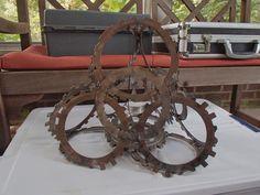 geometric clutch ring sculpture by ScrapYardAesthetics on Etsy, $120.00