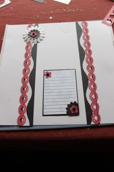 diamond chain bordermaker cartridge and the decorative trimmer.  place and punch blossom and friendship maker for the flowers