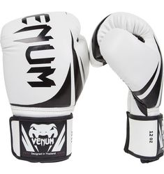 Venum Challenger Boxing Gloves, White, PU leather construction for great durability and performance Triple density foam for enhanced shock absorption and long-lasting hand protection Large Velcro enclosure with elastic for a perfectly safe customized fit Martial Arts Gear, Mixed Martial Arts, Mma Equipment, Home Gym Equipment, Training Equipment, Muay Thai Gloves, Muay Thai Gym, Workout Gear For Women, Boxing