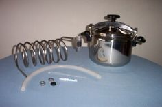 Stove top pressure cooker/water distiller for emergency fresh water.