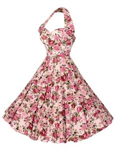 1950s Halterneck Roseanna Dress