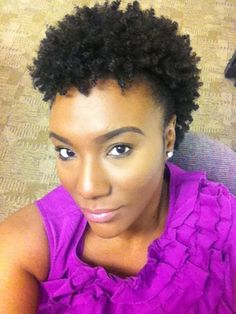 Ebony // Natural Hair Style Icon | Black Girl with Long Hair