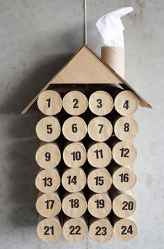Toilet Paper Roll Crafts - Get creative! These toilet paper roll crafts are a great way to reuse these often forgotten paper products. You can use toilet paper rolls for anything! creative DIY toilet paper roll crafts are fun and easy to make. Advent Calenders, Diy Advent Calendar, Countdown Calendar, Calendar Ideas, Countdown Ideas, Calendar 2017, Calendar Printable, Christmas Calendar, Christmas Countdown