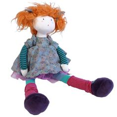 "Baby Girl Rag Doll by Moulin Roty /""Les Coquettes/"" French Style Fine Detail"