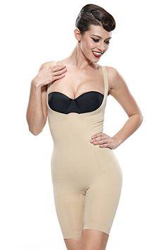 14ec6a74abab5 Franato Womens Shapewear Wear Your Own Bra Bodysuit Body Shaper Large Beige      Details