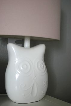 Owl Lamp from @HobbyLobby - love this for a woodland nursery!