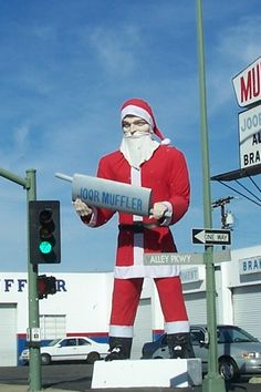 Every state has crowded malls and holiday lights. But here are signs of the season that are uniquely New Jersey. Escondido California, California Dreamin', San Diego, Santa Suits, Roadside Attractions, Holiday Lights, Happy Mothers Day, New Jersey, Christmas Time