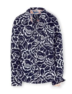 Navy may be a neutral, but in this fab print you will definitely stand out. | #Boden Shirt WA554 in Navy Floral
