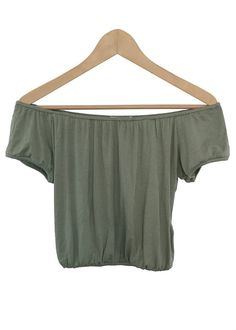 brynn off-the shoulder crop top (seafoam)