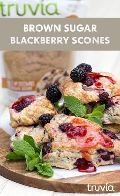 Celebrate the mum in your life with a cuppa tea and classic scones. Click to get the recipe for @Freutcake's Brown Sugar Blackberry Scones, made with Truvia Brown Sugar Blend.