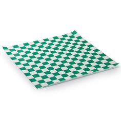 "15"" x 15"" Choice Green Check Deli Sandwich Wrap Paper - 1000 / Pack"