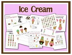 FREE Ice Cream Printable Pages for Kids!