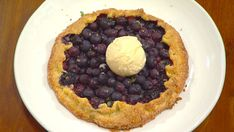 Blueberry Galette with Crème Fraîche Ice Cream