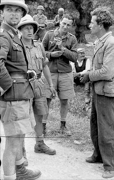Images Of War, History , When German Paratroopers Executed Greek Villagers In Crete. Luftwaffe, Paratrooper, Battle Of Crete, Germany Ww2, German Uniforms, German Army, Portraits, Vietnam War, Military History