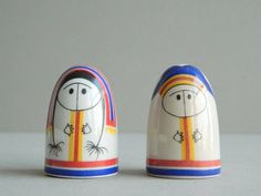 Arabia Finland Lappalainen Eskimo Salt & Pepper Shakers by Esteri Tomula on Etsy, $118.43 CAD
