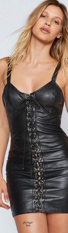 Black leather corset... @rt&misi@.