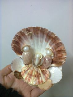 Risultati immagini per artesanatos com conchas Seashell Ornaments, Seashell Art, Seashell Crafts, Beach Crafts, Diy And Crafts, Arts And Crafts, Nativity Crafts, Christmas Projects, Holiday Crafts
