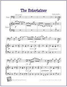 the entertainer joplin easy violin sheet musicviola