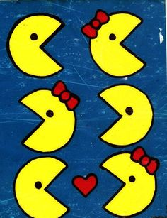 Chase Me and Love Me Pacman and Pacwoman Poster by AlternaFest, $15.00