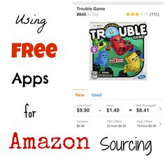 Using FREE App for Amazon Sourcing!  Selling on Amazon?  New to selling on Amazon?  Try these free apps and see if you can start making money right away!  http://writedge.com/free-amazon-fba-smart-phone-applications/