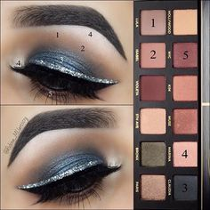 Eye Makeup Tips.Smokey Eye Makeup Tips - For a Catchy and Impressive Look Eye Makeup Steps, Simple Eye Makeup, Cute Makeup, Makeup By Mario Palette, Makeup Palette, Abh Palette, Makeup Looks 2017, Smokey Eyeshadow Tutorial, Professional Makeup Kit