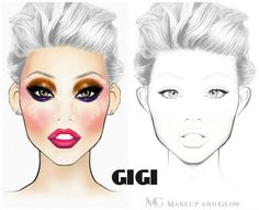 Printable Face Charts For Makeup Makeup Geek, Eyeshadow Makeup, Beauty Makeup, Best Makeup Tips, Best Makeup Products, Highlighter For Dark Skin, Face Template, Makeup Face Charts, Makeup Magazine
