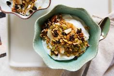 Yes, I'm biased but I can say this is one of my all-time favorite granola recipes. I started making it out of frustration for the fact we were spending so much on granola when I knew I could make it cheaper at home but I kept making it because with the tropical coconut, cruncy quinoa, and toasted...