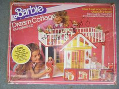1983 Barbie Dream Cottage Unfurnished In The Box (small version of Dream House / Dream House) - Link to Instruction Manual
