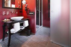 Das Kaminzimmer - einer von sieben verschiedenen, thematisch gestalteten Räumen im Hotel Grenzhof Heidelberg