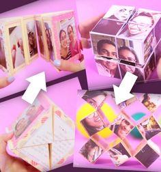 Kétféle varázslatos kihajtható fotó kocka - fényképes ajándék / Mindy -  kreatív ötletek és dekorációk minden napra