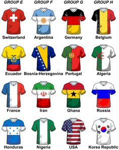 World Soccer Cup Groups  - Part 2 | KidsPressMagazine.com  Clip Art, make the plan for the teams, hours of fun for kids #soccer #world cup #printables