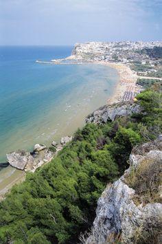 View of Peschici, Gargano Promontory, Apulia, Italy