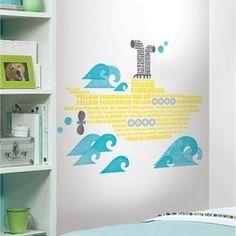 Yellow Submarine Lyrics Peel & Stick Giant Wall Decals