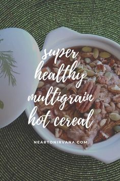 Vegetarian Breakfast, Vegetarian Dinners, Breakfast Recipes, Vegetarian Recipes, Healthy Gluten Free Recipes, Gluten Free Diet, Hot Cereal, Multigrain, Recipe Collection