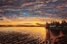 2014 bc coast sunset 48x36 canvas  sold