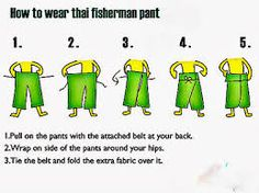 Risultati immagini per thai fisherman pants sewing pattern free