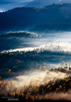 Golden autumn, Rudawy Janowickie, Western Sudetes in Poland