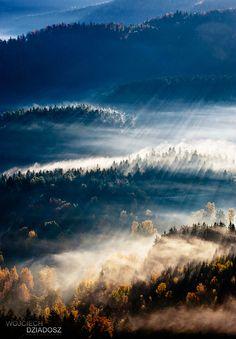 Golden autumn, Rudawy Janowickie, Western Sudetes in Poland