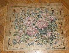 sehr alte Stickvorlage 1920-1930 Rosen