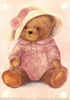 DIY Kunst Adelt beren prenten Vintage Teddy Bears, Cute Teddy Bears, Tatty Teddy, Sweet Drawings, Bear Paintings, Teddy Bear Pictures, Diy Y Manualidades, Bear Drawing, Bear Illustration