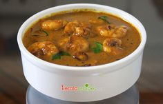 Chemmeen Theeyal or Prawns Theeyal is a prawns preparation with roasted coconut gravy. It is a good accompaniment with rice.